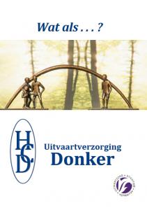 Folder van Uitvaartverzorging Donker over wat wij voor u bij de uitvaart kunnen betekenen.